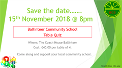 Parents Association-Table Quiz