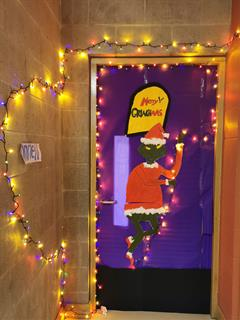 Christmas Door fun in BCS